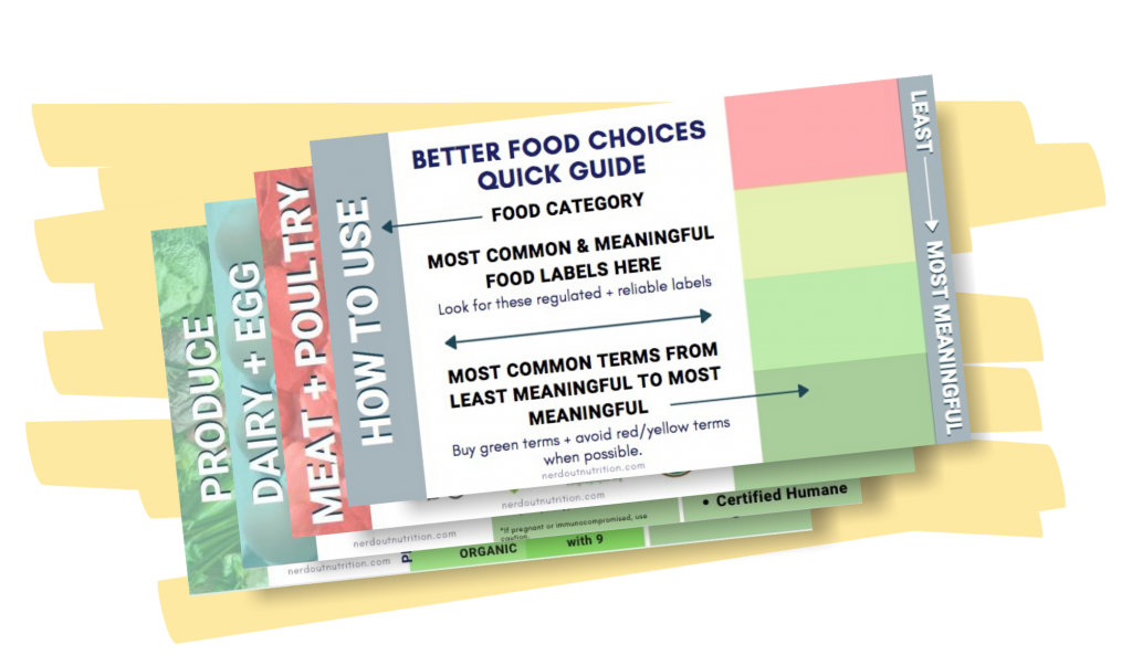 Better Food Choices Quick Guide Freebie