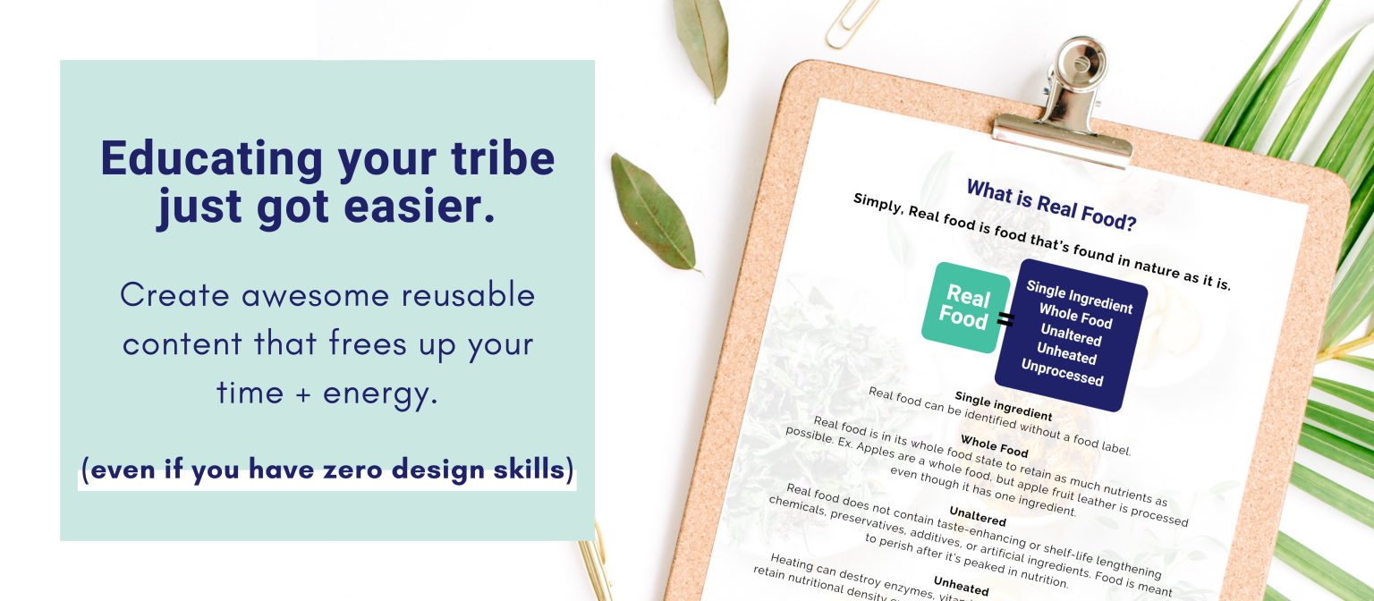 Educate your tribe with easy-to-use templates that save you time + energy.